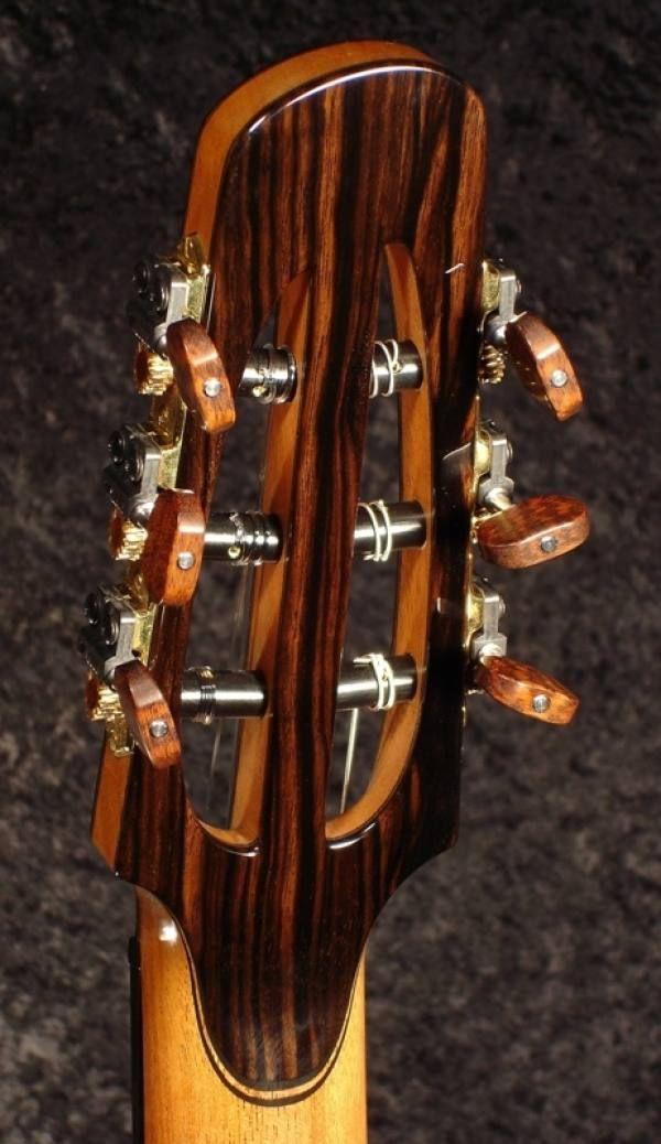 classical guitar slotted headstock back veneer slotted. Black Bedroom Furniture Sets. Home Design Ideas