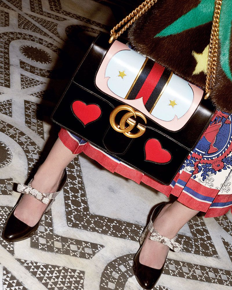 011efbce0b46 Gucci GG Marmont Medium Web Heart Shoulder Bag | bags | • | Bags ...