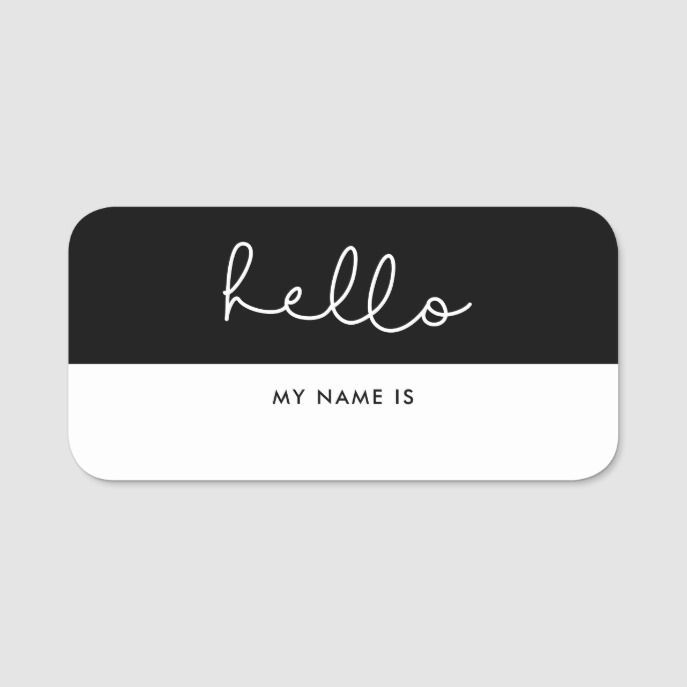 cute script hello my name is dry erase name tag zazzle com rh pinterest com