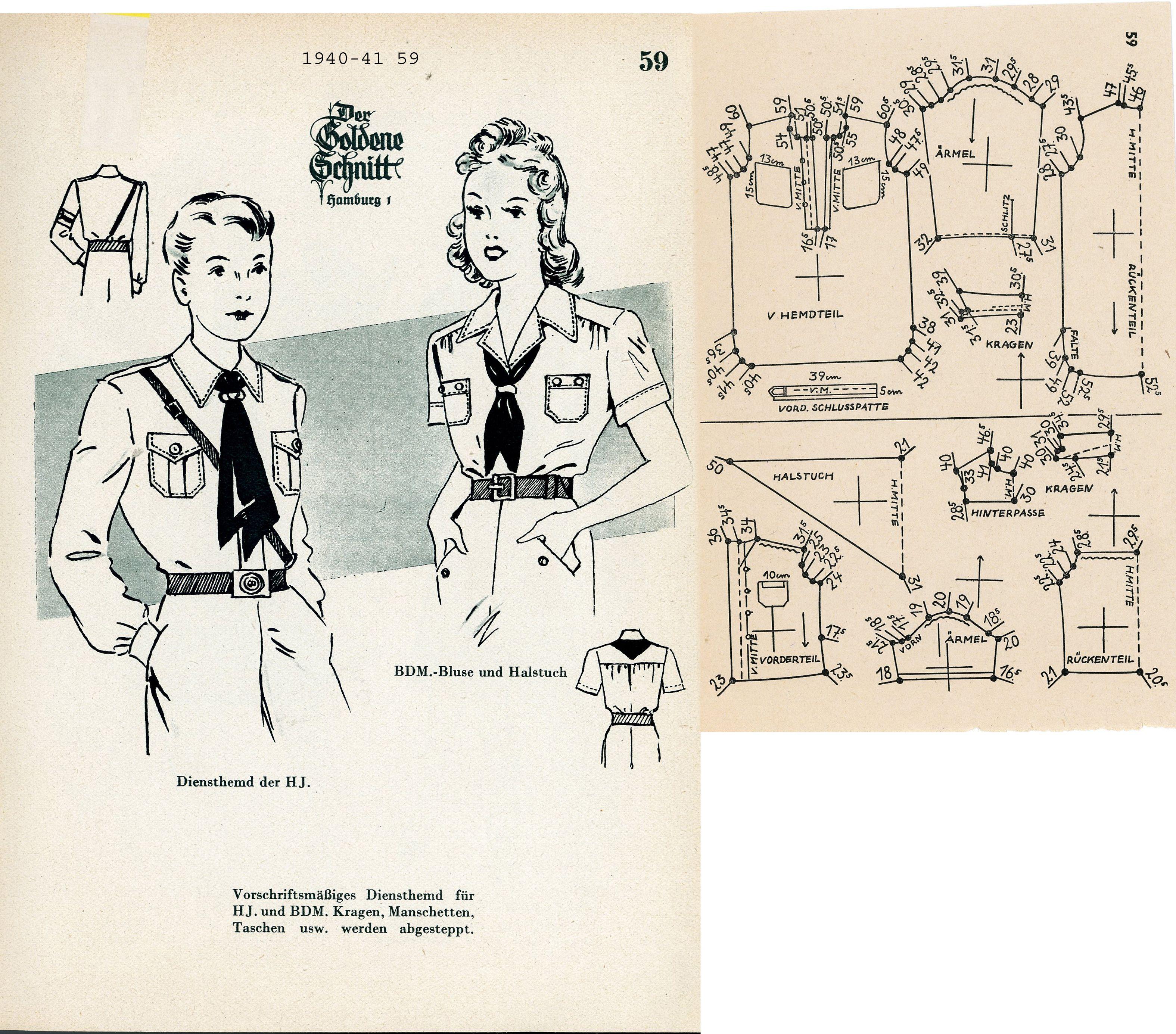 1940s (1940-1941) German Children\'s HJ/BDM Lutterloh 1940-41 59 ...
