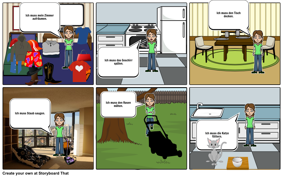 German Chores Storyboard By Frauneedle For Presentation Visual