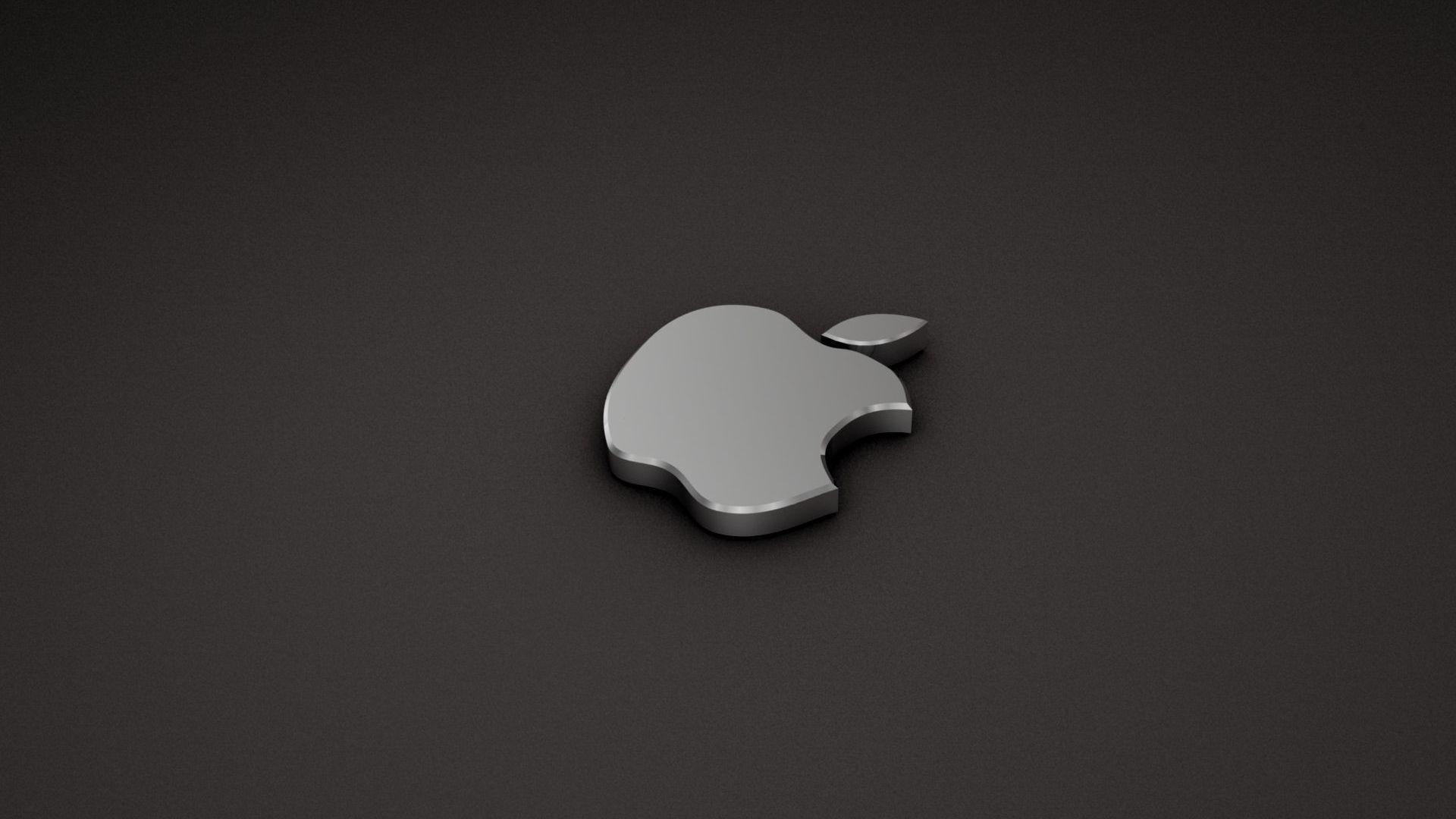 3d Black And White Mac Apple Logo Hd Wallpaper