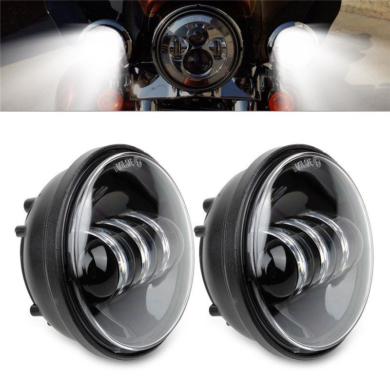 1 Pair Daymaker Projector LED Moto Fog Lamp Harley Parts
