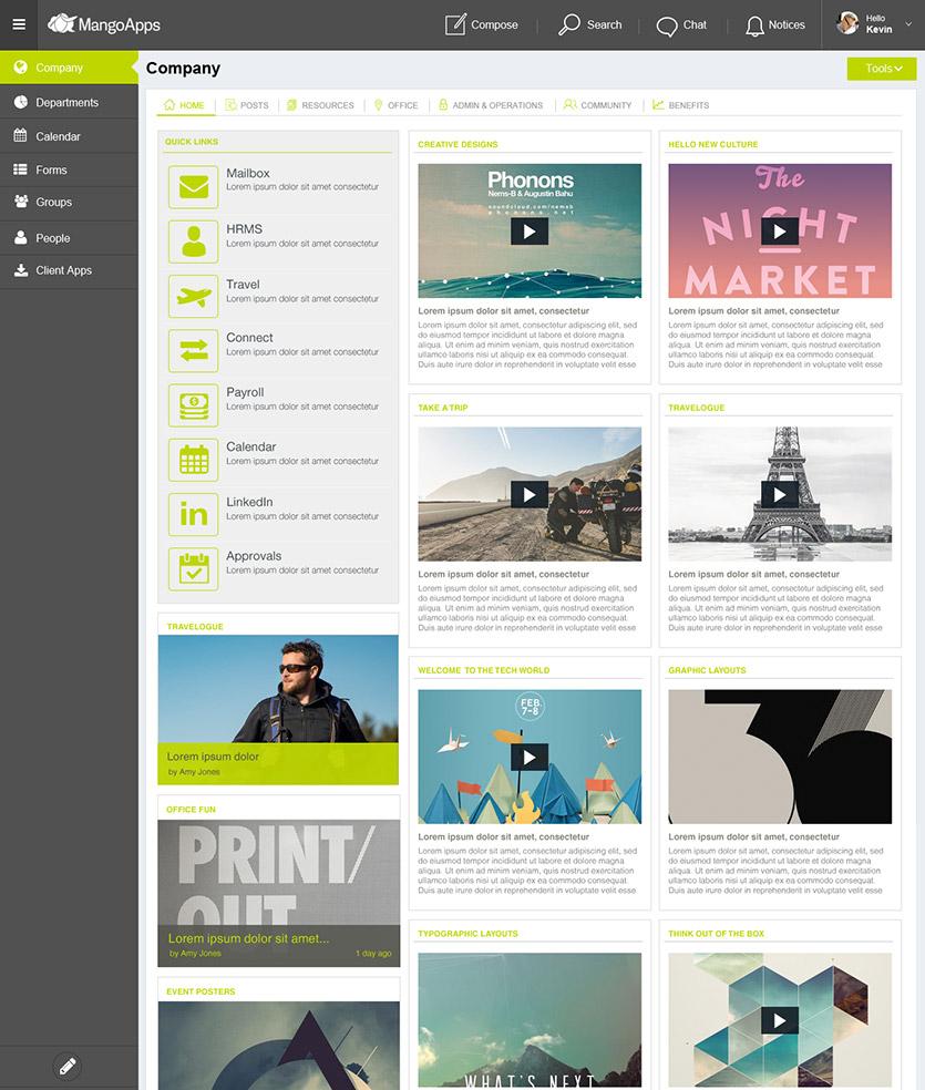 Intranet Examples - Intranet & Portal App