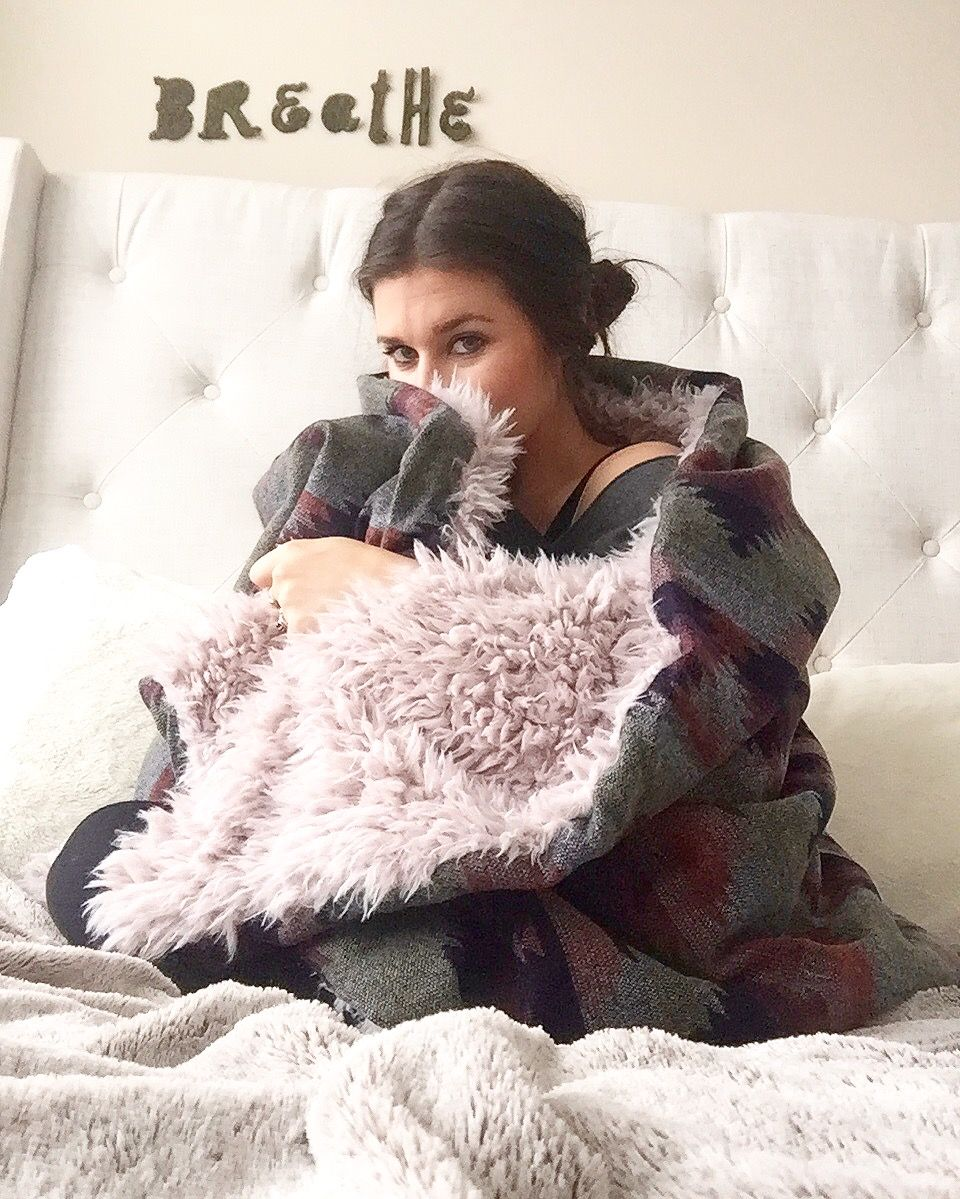 Perfect Fluffy Snuggling Blanket   Handmade & one of a kind   Get this cozy blanket from TOM & Orrow Boutique www.tomandorrow.com