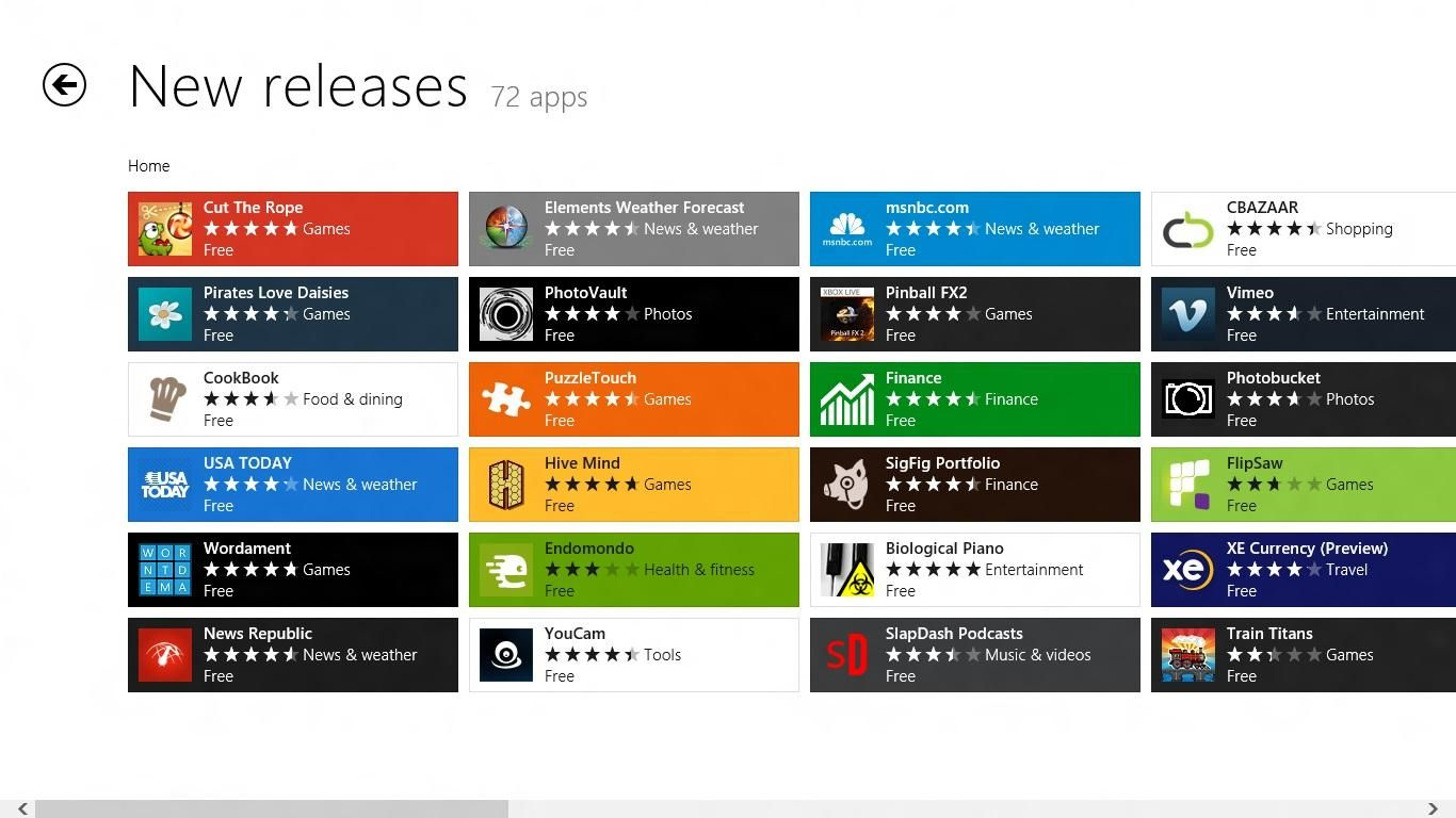 Windows 8 App Store now has 35,000 Apps and still growing