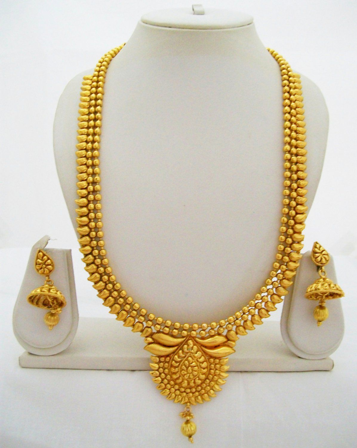 Gold Beads Bridal Necklace Set