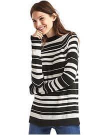 c58de151d83de8 Gap Merino wool blend stripe mock neck sweater $22   Bought it ...