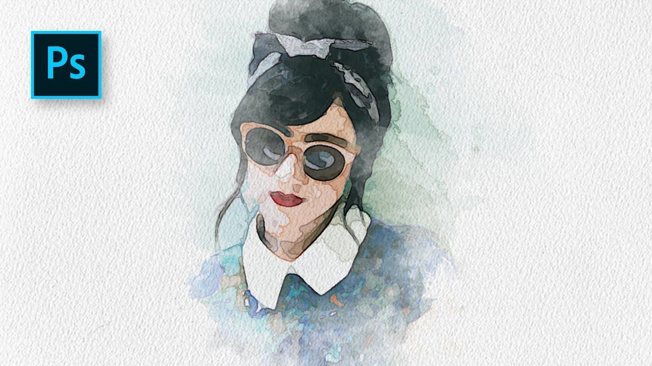 Cara Membuat Efek Lukisan Potrait Watercolor Di Photoshop
