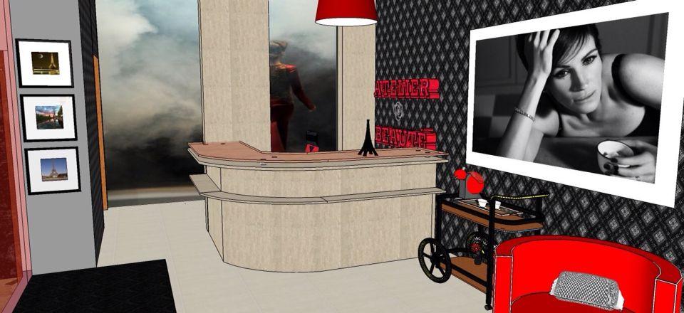 Projeto - Maristela F. Sigolini - Sala de espera - Salão de Beleza
