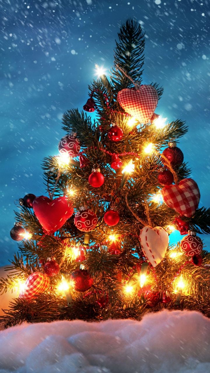 Download wallpaper 720x1280 tree new year christmas - Galaxy christmas wallpaper ...