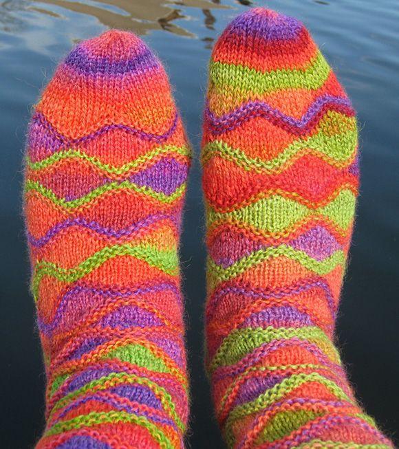 Knit socks free pattern