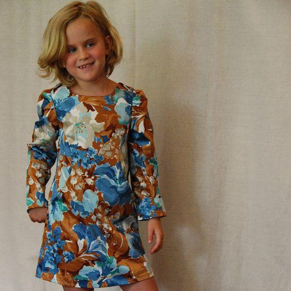 Size 3 4 5 6 7 8 girls Fall Dress  A line by SchoolHouseFrock, $48.00