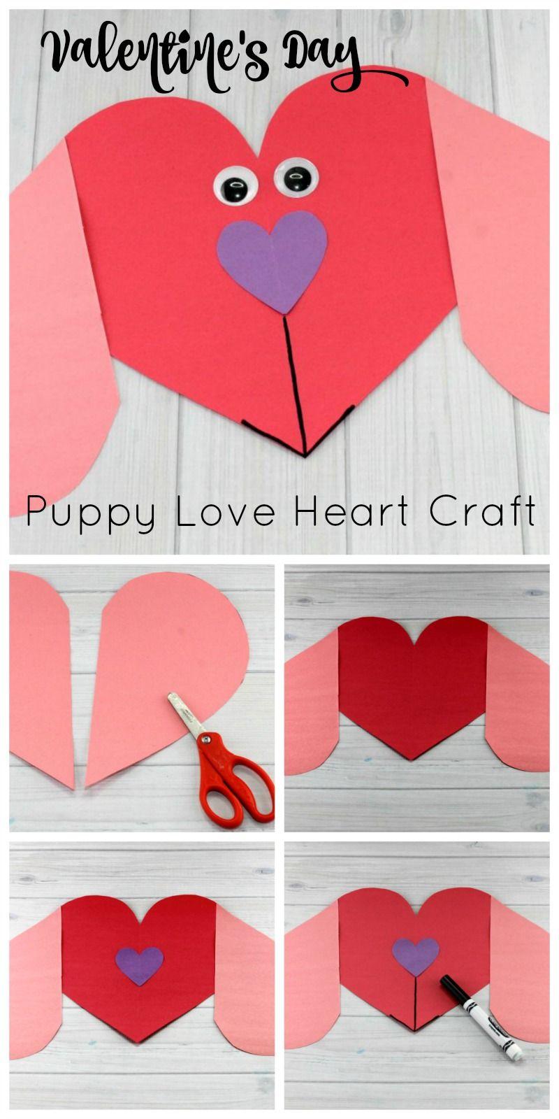 Puppy Love Preschool Heart Craft To Make This Valentine S Day