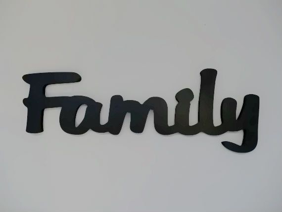 Wooden wall decor word - Family Sign | House and Home | Pinterest ...