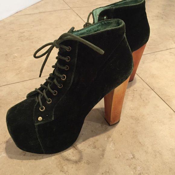 verde velvet en Jeffrey Campbell Litas Jeffrey campbell en velvet scarpe d72dbe