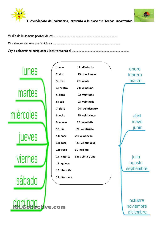 Calendario Spagnolo.Daas Meses Estaciones Spagnolo Materiale Didattico 4 8