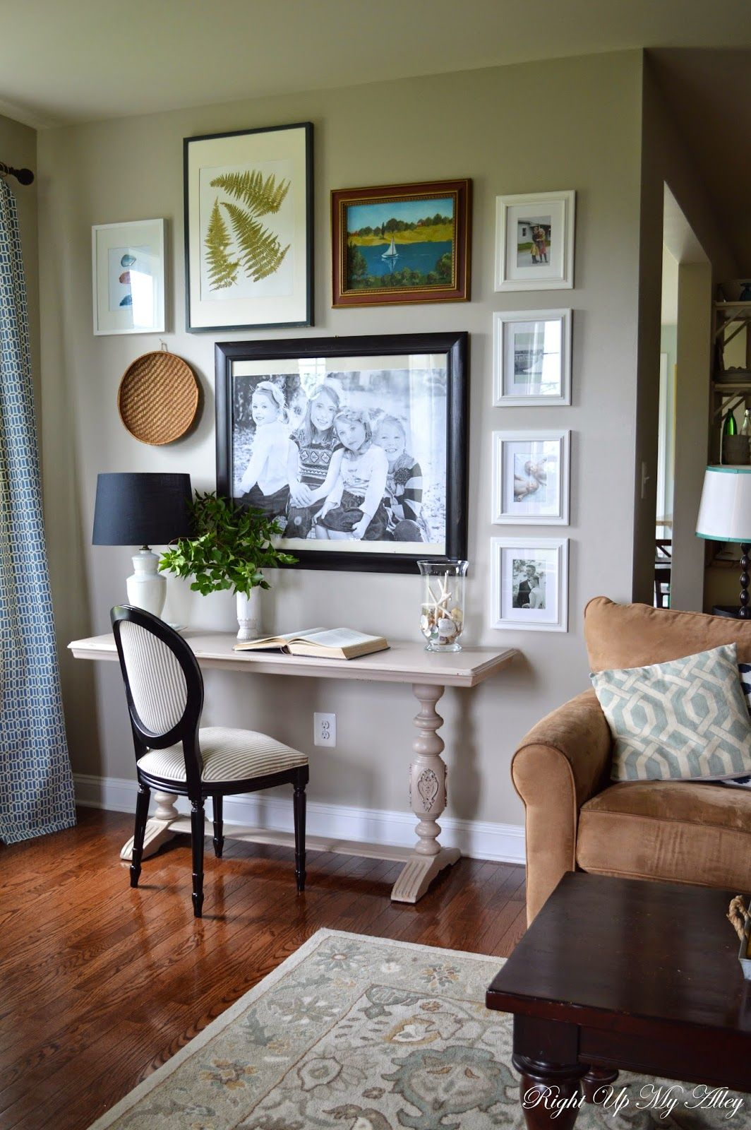 ideas for decorating the space above your leather couch in on family picture wall ideas for living room furniture arrangements id=94211
