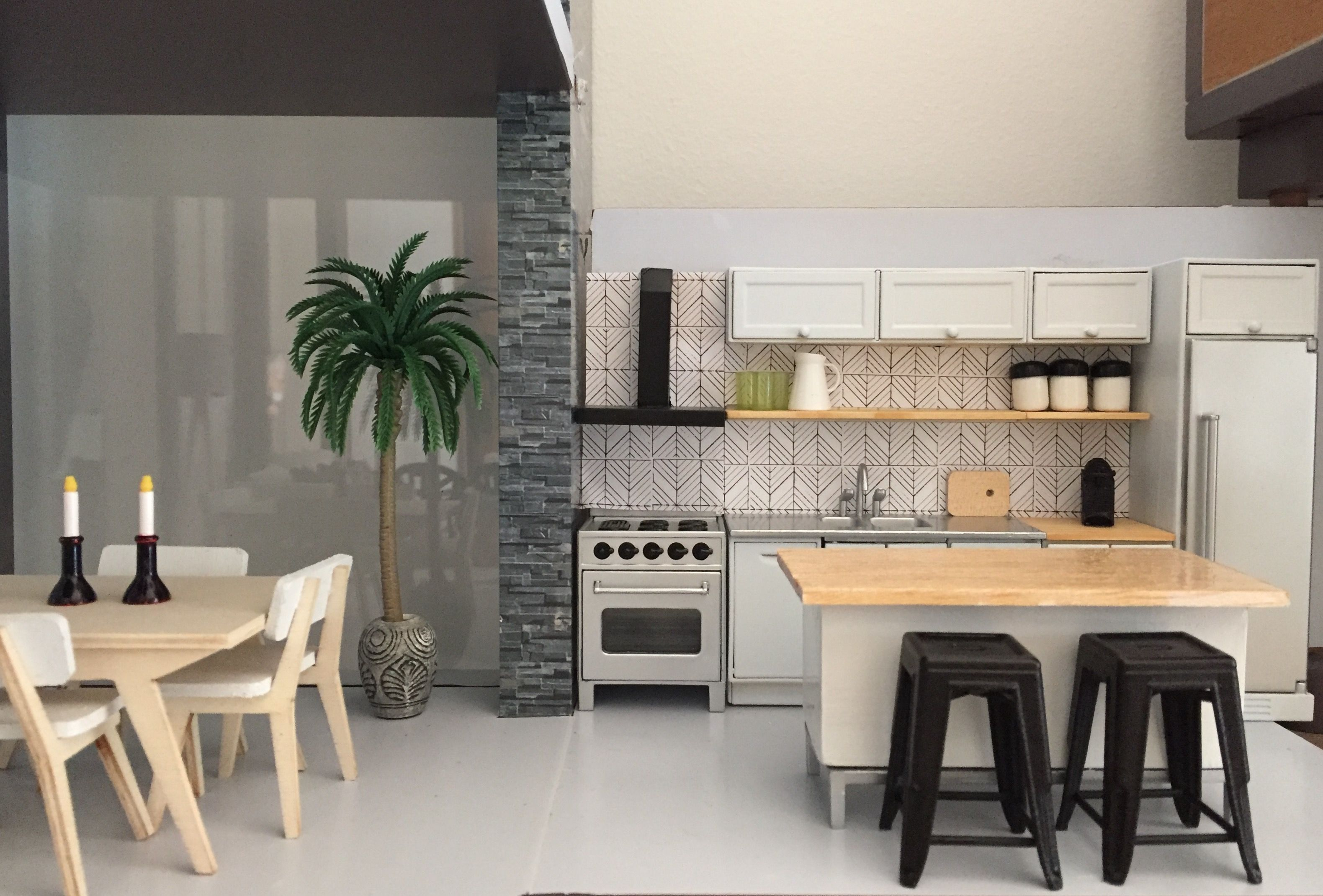 Puppenhaus Küche Modern Lundby Kitchen Renovated To Fit Into The Brinca Dada