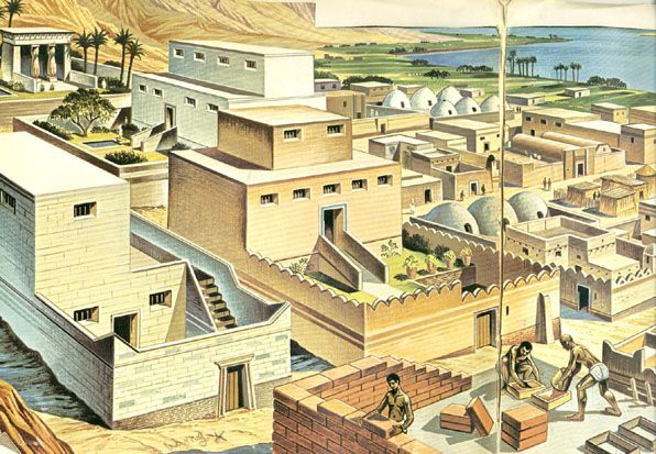 how to make a model of an ancient egyptian house