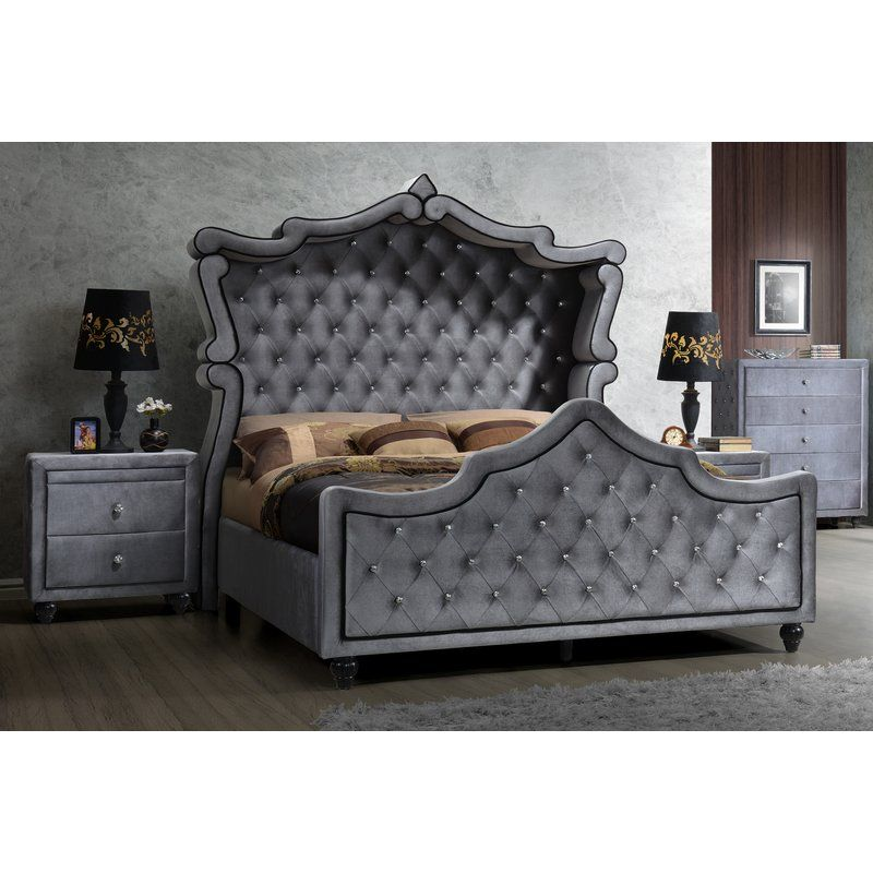 Grant Upholstered Sleigh Bed | Bedrooms and Modern