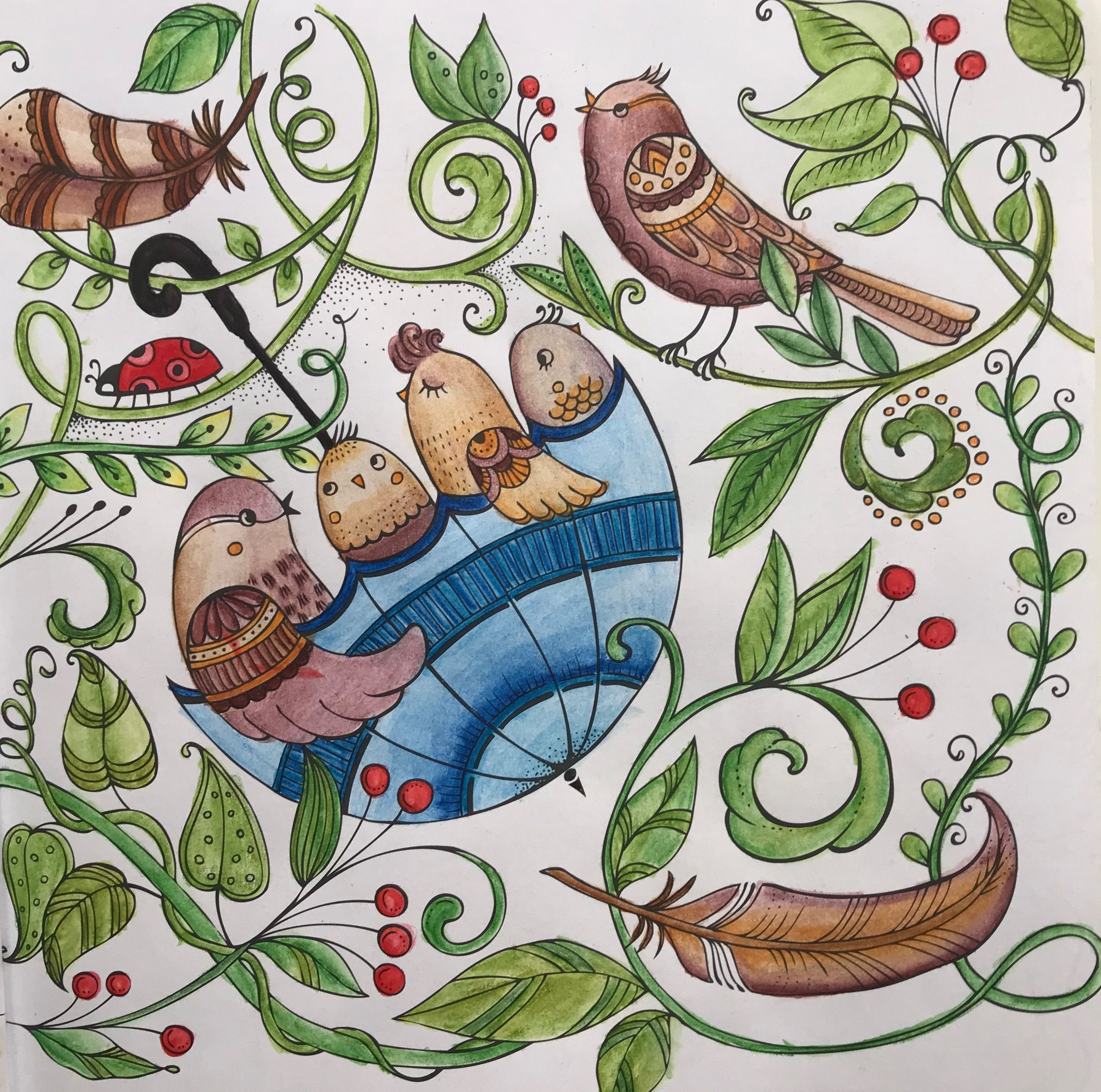 Coloring Kolorowanka Art Coloringart Kredki Coloredpencils Coloringmasterpiece Coloredpencil Meinsommer Coloring Books Watercolor Art Colored Pencils