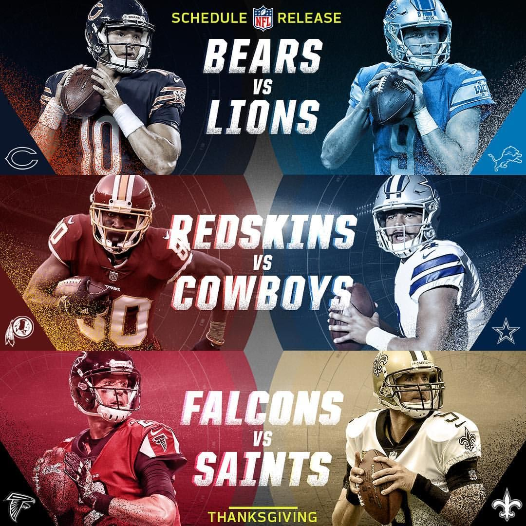 See You On Thanksgiving Click The Link In Our Bio For The Full 2018 Schedule Schedulerelease2018 Nfl Thanksgiving Bears Vs Lions Thanksgiving Football