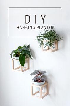 Wohnen mit Pflanzen – DIY hängende Pflanzenhalter #diyinterior