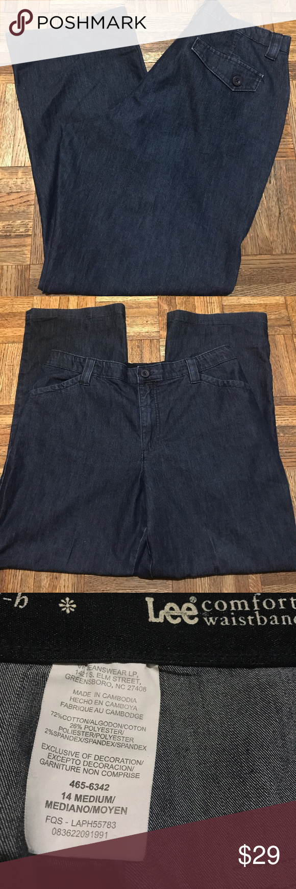 up plus sale comforter jeans capri blue wear preowned lee sz signs comfort show of waistband pin for capris