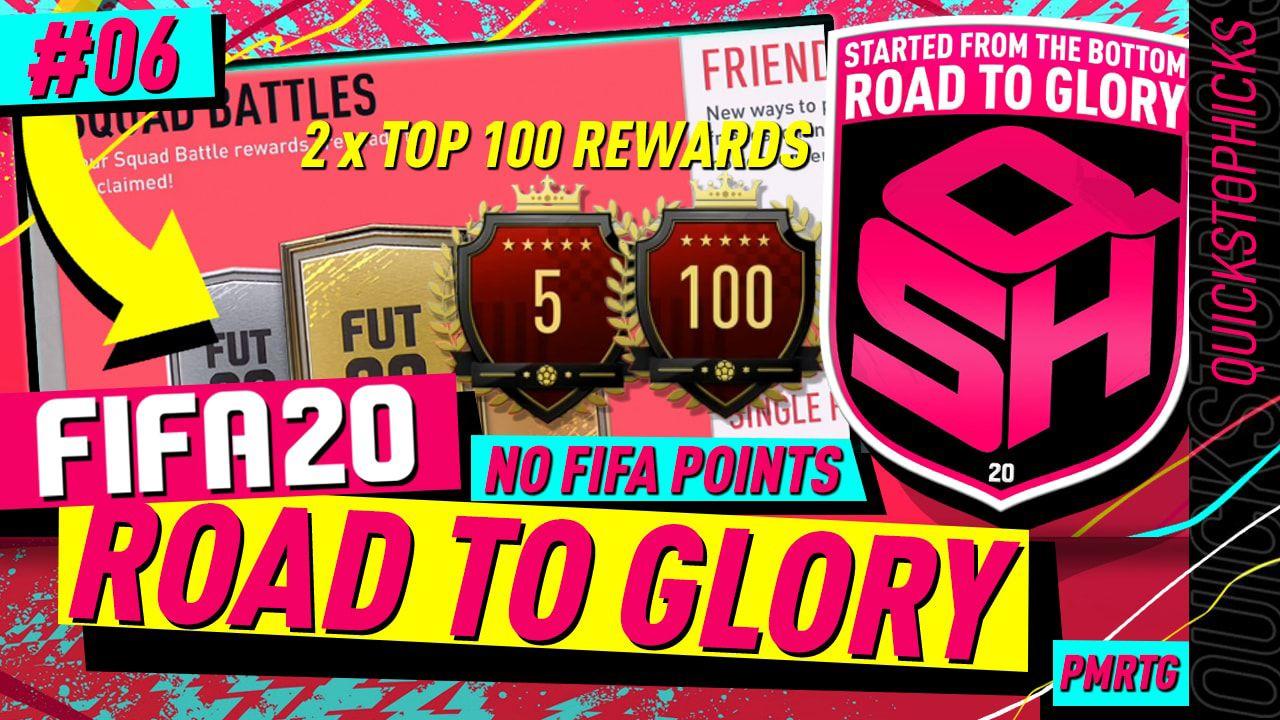 Fifa 20 Road To Glory 6 I 2 X Top 100 Squad Battles Rewards I Insane Pulls From Rtg Rewards Fifa 20 Fifa Glory