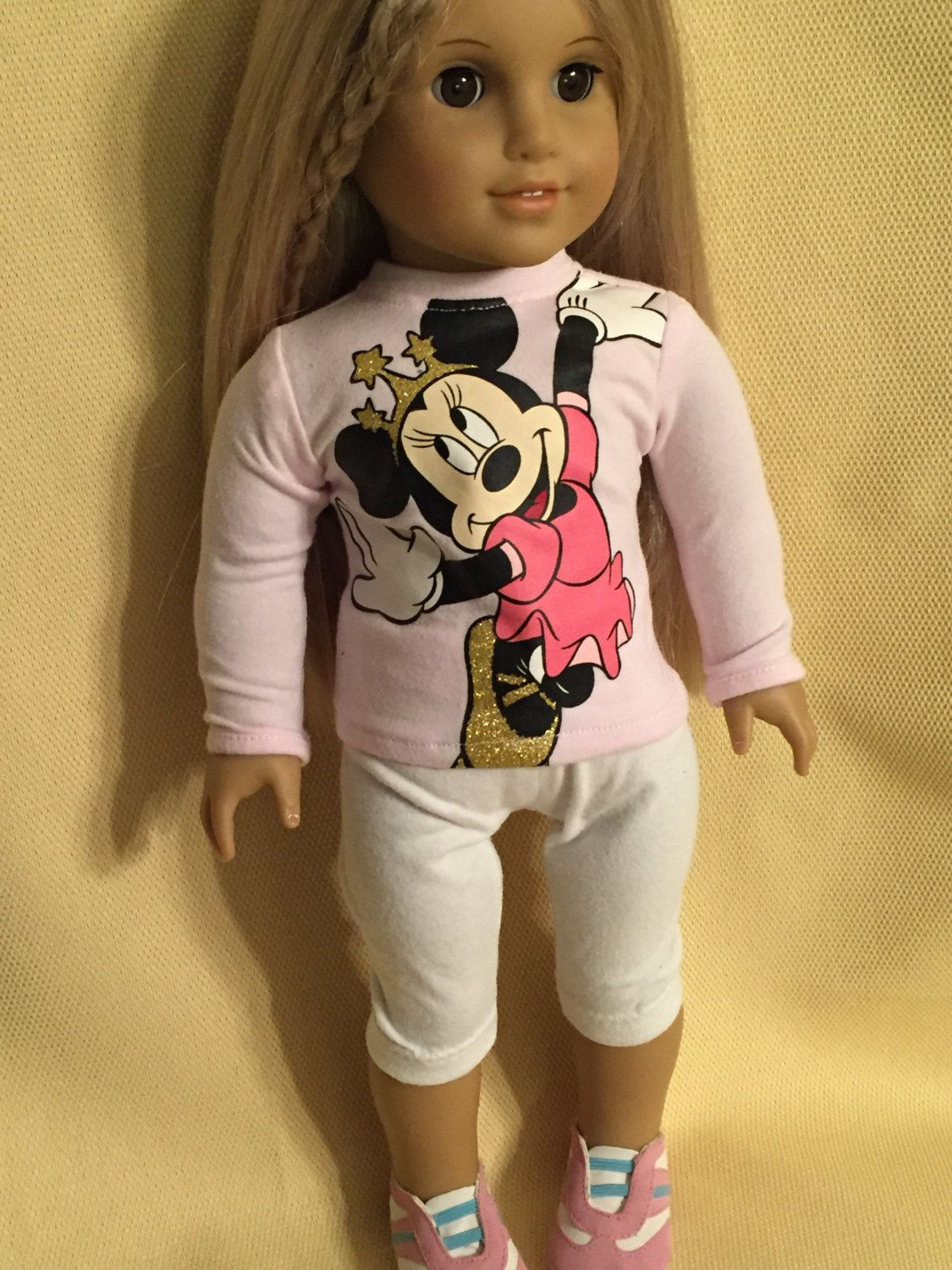 Two Piece Minnie Mouse Outfit for American Girl Dolls by ItIsSewYou on Etsy