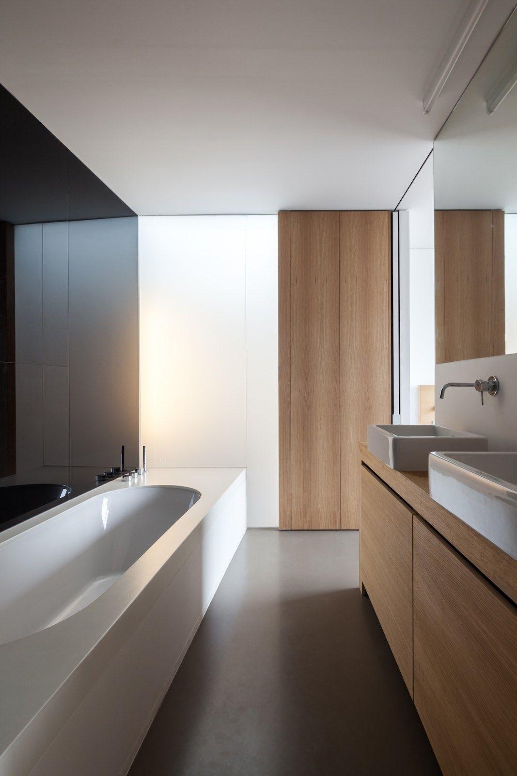 Entspannendes badezimmerdekor abeel house by steven vandenborre u miass architectuur  bäder