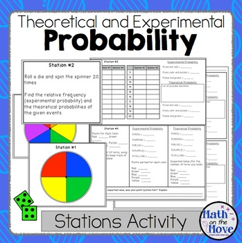 Probability Theoretical And Experimental Stations Activity