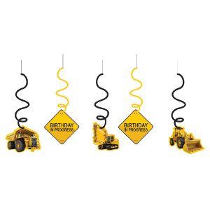 Construction Zone Dizzy Dangler Decoration Pk 5 | Party Products & Good Supplies Melbourne