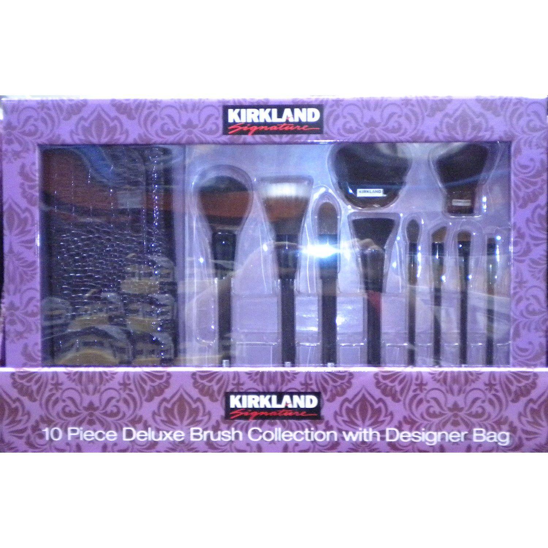 Kirkland Signature 10 Piece Cosmetic Brush Set. beauty,