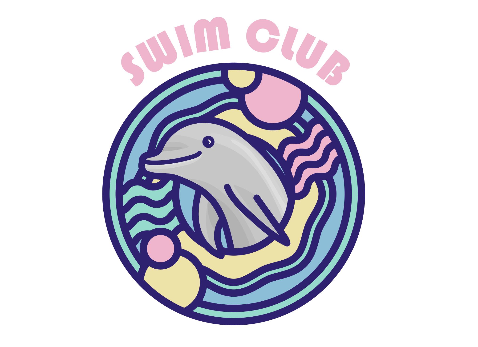 Swim Club Icon Graphic By Mine Eyes Design Creative Fabrica