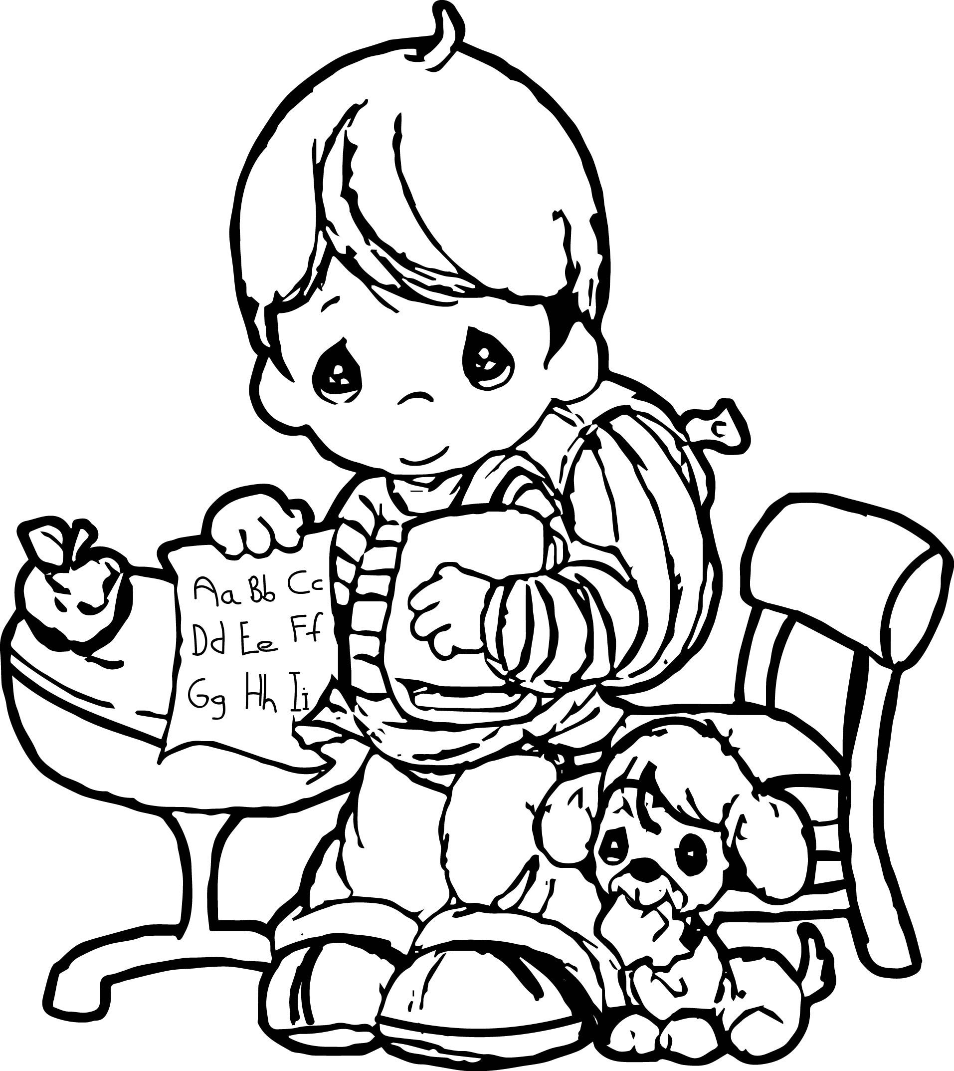 christmas precious moment coloring pages - photo#26