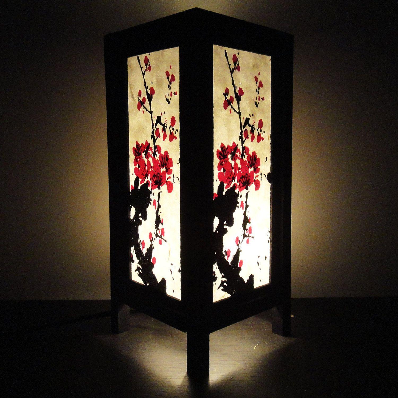 Asian Oriental Sakura Tree Branch Japanese Lamp Zen