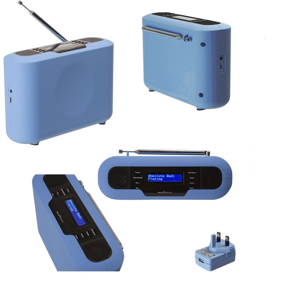 Portable kitchen dab radio battery mains fm and digital magicbox ...