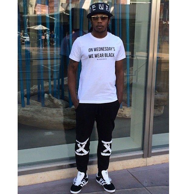Trinidad James wearing adidas Originals Gazelle