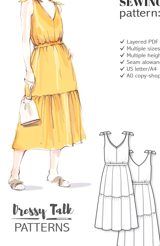Dress Pattern Sewing Pattern Dress Patterns For Women Pdf Sewing Patterns S Summer Dress Sewing Patterns Sundress Sewing Patterns Summer Dress Patterns [ 2146 x 1396 Pixel ]