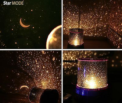 Led Galaxy Projector Night Romatic Cosmos Star Starry Light Lamp Kid Baby Ebay