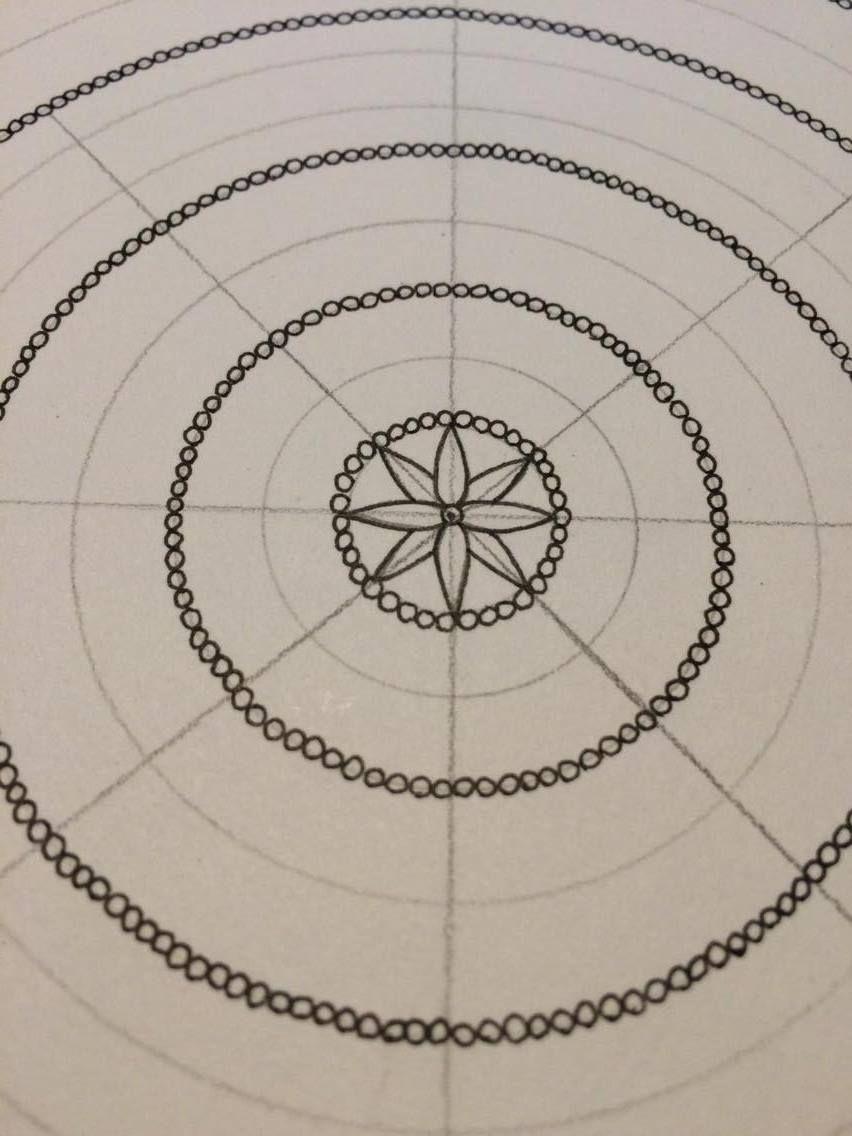 How I Make A Mandala Pt 1 Pattern In 2019 Zeichnungen
