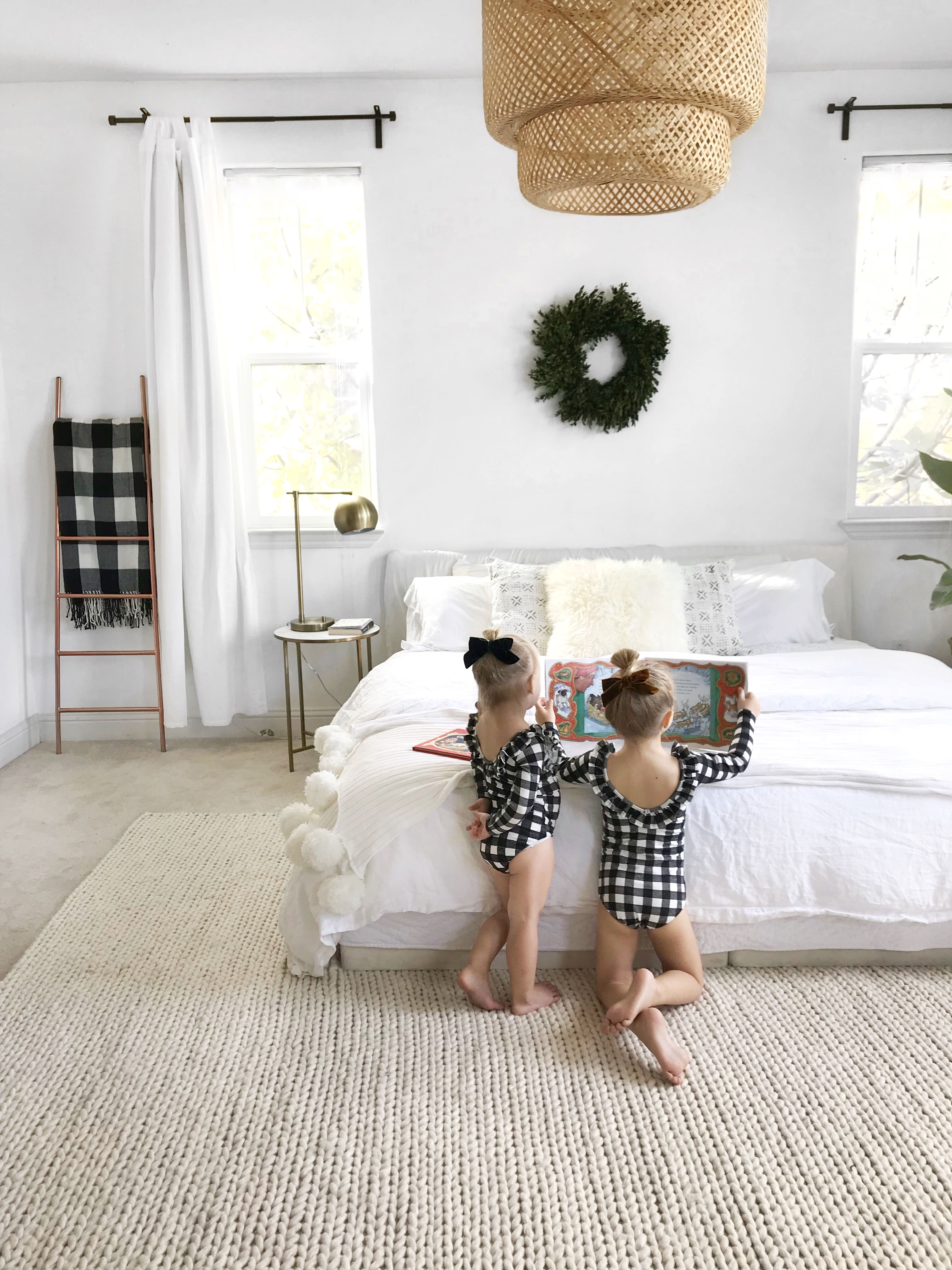 White Neutral Bedroom Boho Ikea Pendant Scandinavian Boho Pom Pom Blanket Minimalist Bedroom Decor Neutral Bedroom Bedroom Boho Living Room Design White
