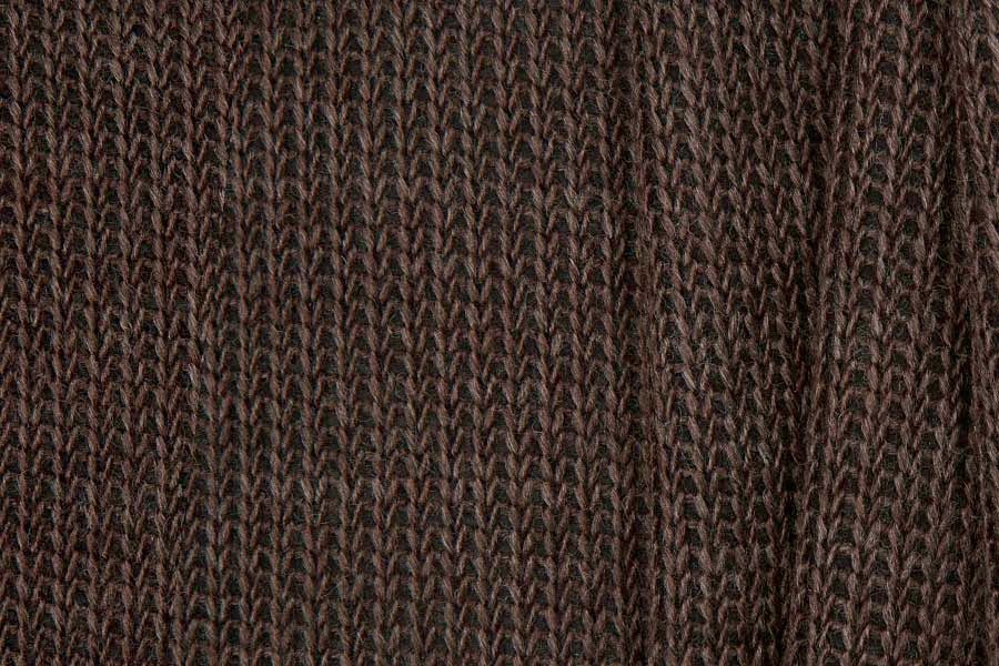 Britex Fabrics - Midweight Chocolate Brown Wool Blend Cable ...