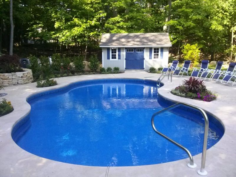 Amish Pool Houses and Sheds | pool shed | Pool shed, Pool ...