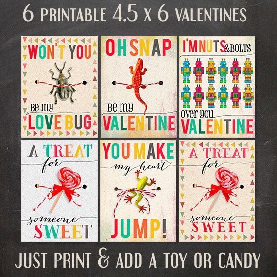 5 adorable printable valentine's day cards on etsy | cards and, Ideas