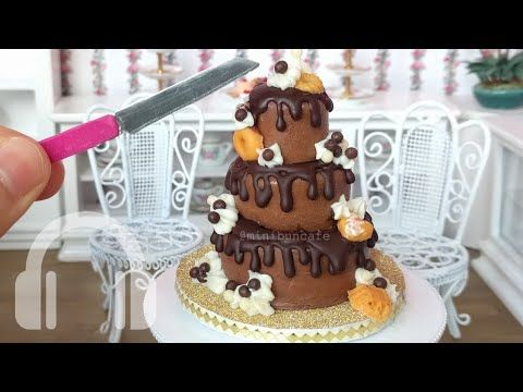 Mini Chocolate drip cake! Mini food, real edible mini cake - YouTube #tinykitchens