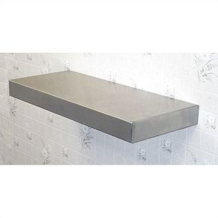 Stainless Floating Shelves Stainless Steel Floating Shelf  Size 18  Kitchen Redesign