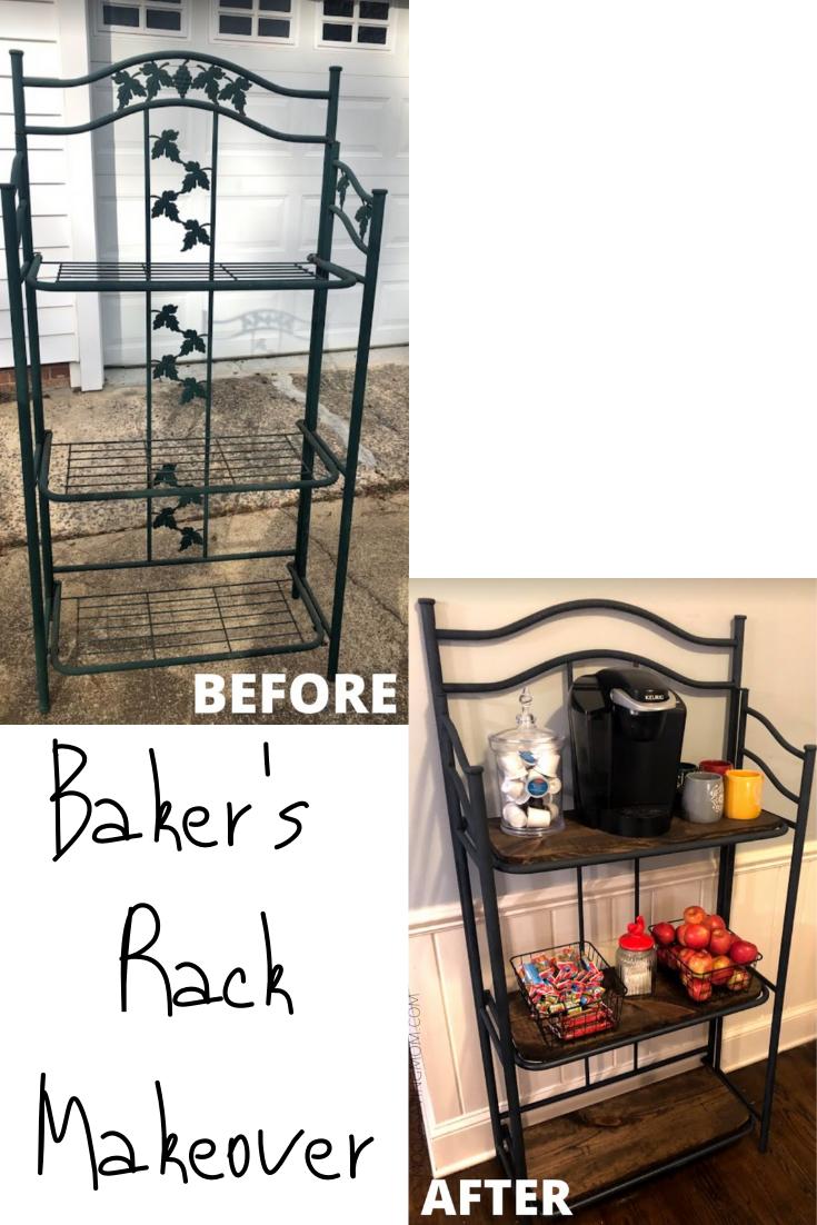 Bakers Rack Makeover To Breakfast Bar Bakers Rack Moola